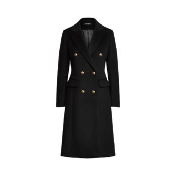 Двубортное пальто из смесовой шерсти Ralph Lauren