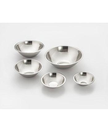 Набор из 5 прочных чаш для смешивания из нержавеющей стали Cookpro Cook Pro