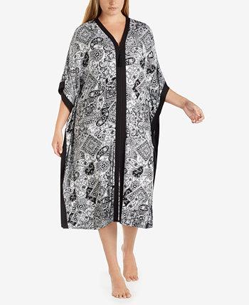 Кафтан большого размера с широкими рукавами и принтом Ellen Tracy