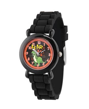 Disney Toy Story для мальчика 4 Rex Черный Пластик Время учитель Ремешок Часы 32мм Ewatchfactory