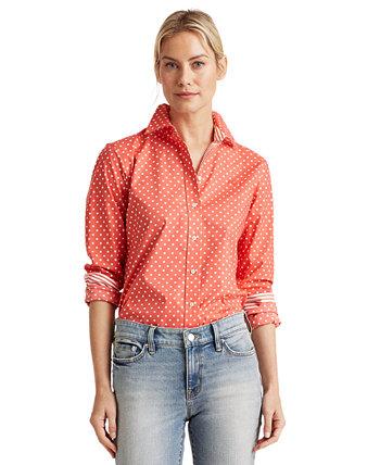 Рубашка Easy-Care в горошек Ralph Lauren