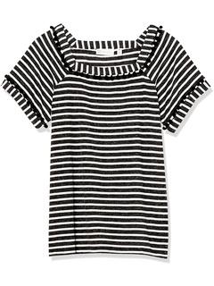 Полосатая футболка с квадратным вырезом и коротким рукавом Rafaella