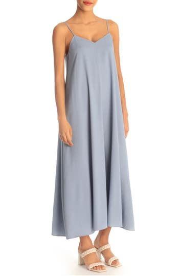 Платье миди без рукавов с V-образным вырезом Donna Morgan