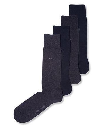 Мужские носки, 4 пары однотонных Calvin Klein
