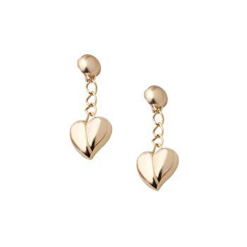Серьги-подвески Mini Heart с цепочкой Carolina Herrera