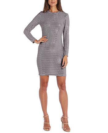 Облегающее платье с металлическим принтом для юниоров Morgan & Company