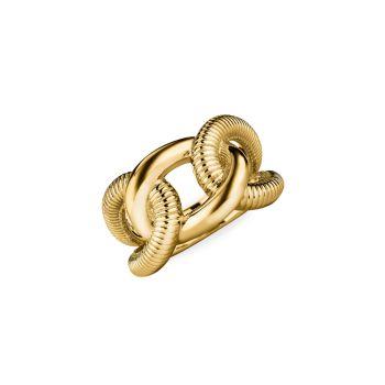 Кольцо с замком Eternity из желтого золота 18 карат Judith Ripka