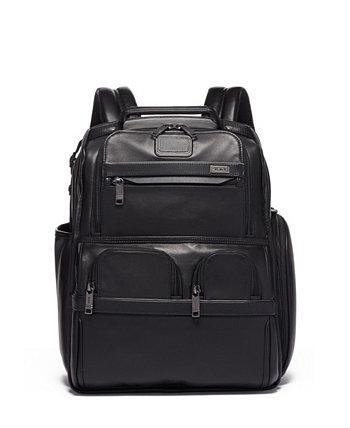 Компактный кожаный рюкзак-портфель для ноутбука Alpha 3 Tumi