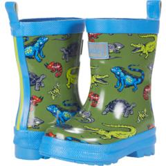 Сапоги от дождя с блестящими рептилиями (для малышей / малышей) Hatley Kids