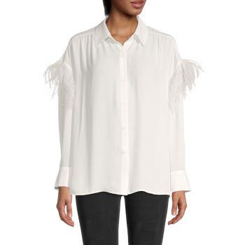 Рубашка с отделкой из страусиных перьев Wing A Prayer BB Dakota