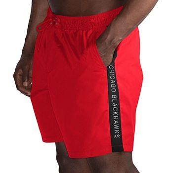Men's G-III Sports by Carl Banks Red/Black Chicago Blackhawks Volley Swim Shorts G-III