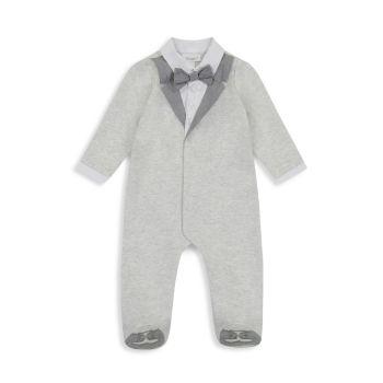 Галстук-бабочка для маленьких мальчиков & amp; Tails Tuxedo Footie Miniclasix