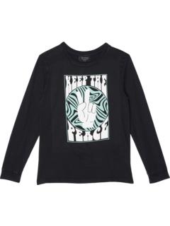 Рубашка с длинным рукавом с рисунком Keep The Peace (для малышей / маленьких детей / детей старшего возраста) Tiny Whales