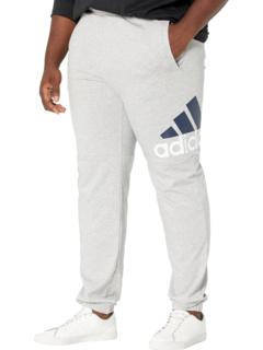 Одинарные зауженные брюки из джерси с логотипом Big & Tall Essentials Adidas