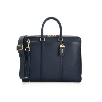 Кожаная сумка New Metropolitan Slim Brief COACH