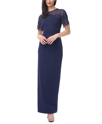 Платье-иллюзия с украшением JS Collections