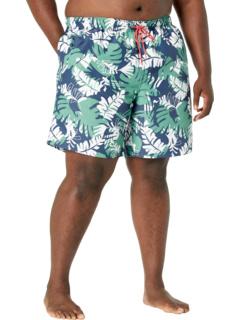 8-дюймовые шорты для плавания с тропическим принтом Big & Tall, изготовленные из экологически чистых материалов Nautica Big & Tall
