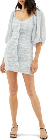 Мини-платье Kayley со сборками и смешанным принтом MINKPINK