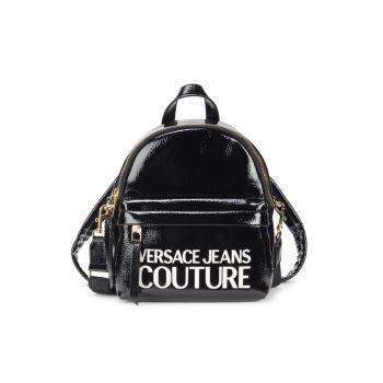 Рюкзак-трансформер из искусственной кожи с логотипом Versace Jeans Couture