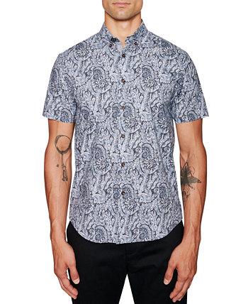 Мужская приталенная рубашка с узором пейсли Tallia