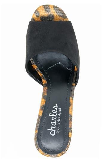 Сандалии на блочном каблуке с леопардовым принтом Myles Charles by Charles David