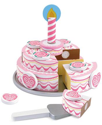Детские игрушки, трехслойный праздничный торт Melissa and Doug