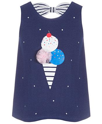 Туника из хлопка с мороженым для маленьких девочек, созданная для Macy's First Impressions