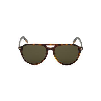 Круглые солнцезащитные очки-авиаторы 57 мм Zegna