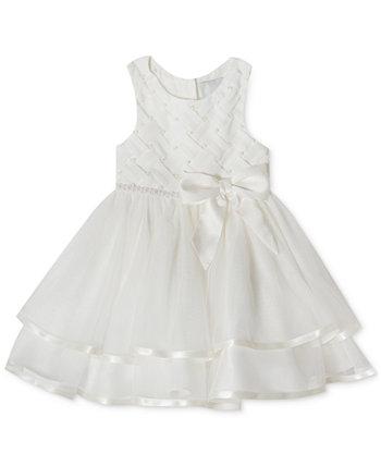 Многослойное жемчужное платье для маленьких девочек Rare Editions