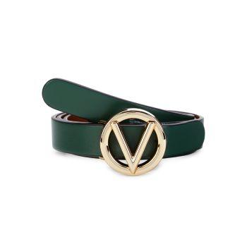Кожаный ремень с логотипом Baby Valentino By Mario Valentino