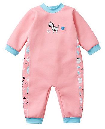 Младенец и малышка согревают в одном гидрокостюме Нины Ковчег 12-24 месяца Splash About