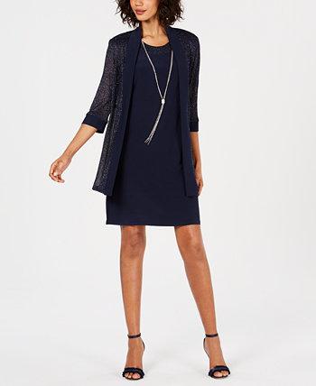 Платье-колье и куртка с металлической отделкой R & M Richards