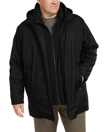 Мужская большая и высокая куртка Ripstop с флисовым нагрудником Calvin Klein