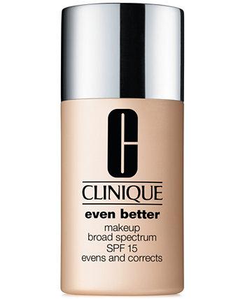 Тональная основа Even Better ™ Makeup Wide Spectrum SPF 15, 1 унция. Clinique