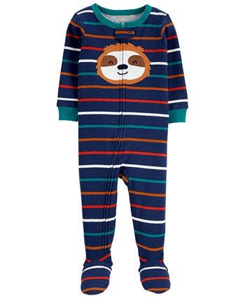 Цельнокроеная пижама из хлопка Footie для малышей Sloth Snug Fit Carter's
