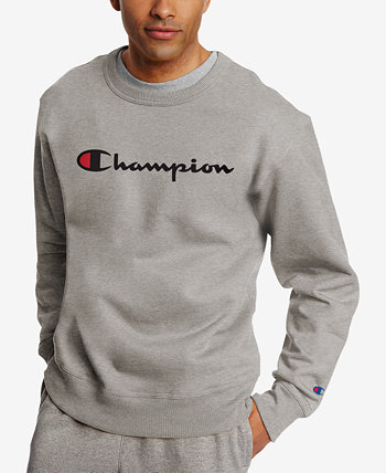 Men's Powerblend Fleece Logo Sweatshirt Champion