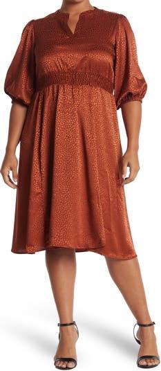 Платье миди со сборками на талии и животным принтом Sandra Darren