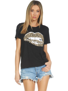 Классическая футболка Croft Leopard Lip Lauren Moshi