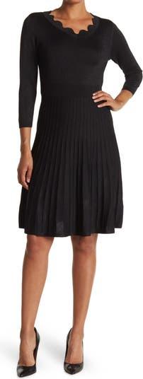 Платье-свитер с юбкой со складками и зубчатыми краями Nanette nanette lepore