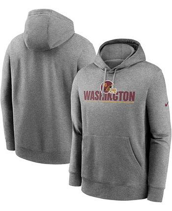 Мужская толстовка с капюшоном для высоких и больших размеров, темно-серого цвета, футбольной команды Вашингтона, Impact Club Nike