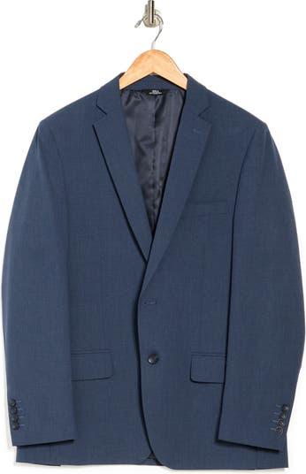 Эластичный приталенный костюм с двумя пуговицами и лацканами Sharkskin отделяет куртку Louis Raphael