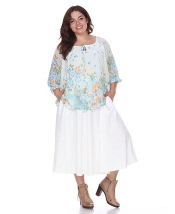 Расклешенные миди-юбки Plus Tasmin White Mark