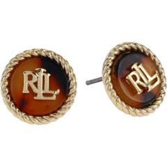 Button Earrings Ralph Lauren