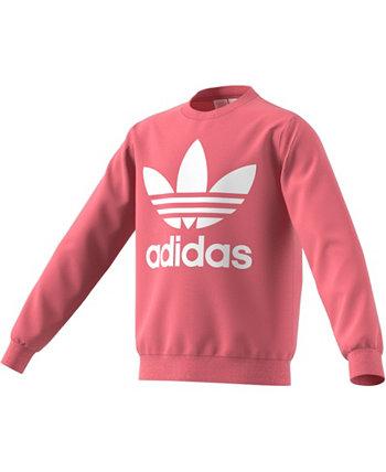 Толстовка Big Girls Trefoil Adidas