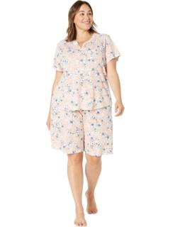 Plus Size Year in Havana Short Sleeve Bermuda PJ Set Karen Neuburger