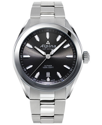 Мужские часы Swiss Alpiner с браслетом из нержавеющей стали, 42 мм Alpina