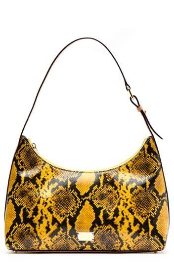 Кожаная сумка-хобо с принтом под змеиную кожу Laura Frances Valentine