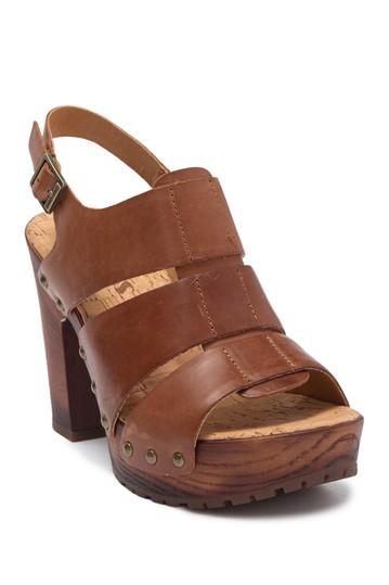 Кожаные сандалии на платформе Selyse Korks