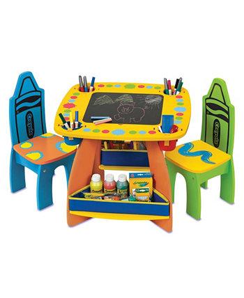 Деревянный стол и набор стульев Crayola