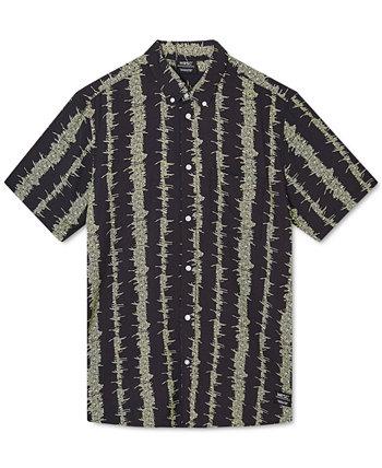 Мужская рубашка с принтом в абстрактную полоску Oden WeSC